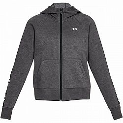 Under Armour UA TAPED FLEECE FZ tmavo šedá M - Dámska mikina